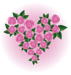 rose heart flower vector image vector image