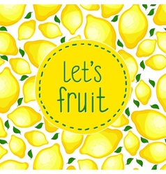 Seamless pattern of lemons vector image vector image