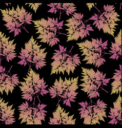 seamless pattern with leaves and sprigs vector image vector image