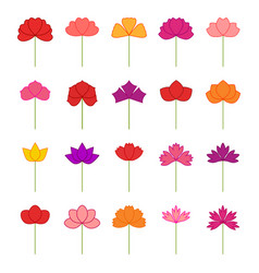 Set of decorative flowers vector
