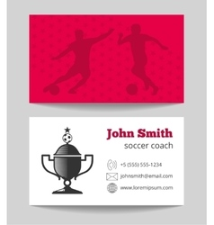 Soccer club business card template vector image vector image