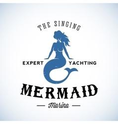 The Singing Mermaid Marina Abstract Retro vector image vector image