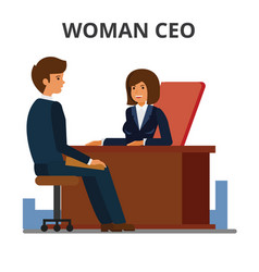 woman ceo working with assistant female manager vector image