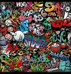 graffiti on wall streetart background vector image
