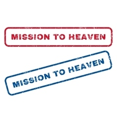 Mission to heaven rubber stamps vector