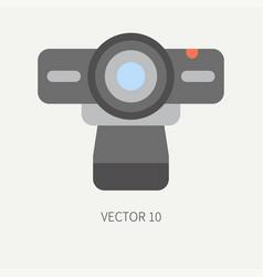 Plain flat color computer part icon web vector