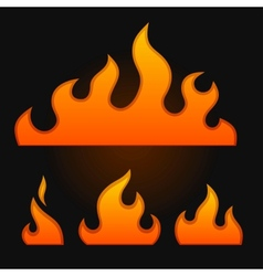 Set of fire elements vector