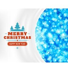 Christmas light and snowflakes backg vector image