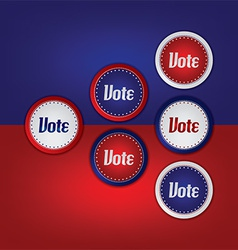 Voting and election design elements vector