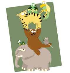 Funny Animals vector image