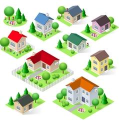 House set vector