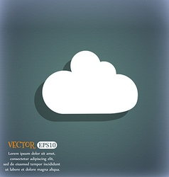 Cloud sign icon data storage symbol on the vector