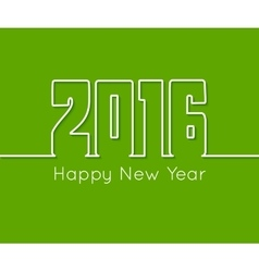 Happy new year outline text design on green vector