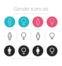 Gender icons set vector