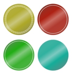 Stickers color blank vector