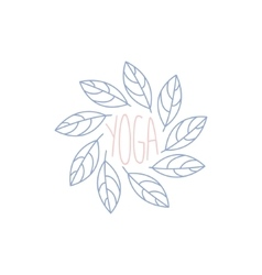 Yoga studio hand drawn logo vector