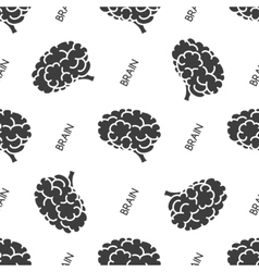 Seamless pattern with brain vector