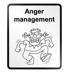 Anger Management Information Sign vector image vector image