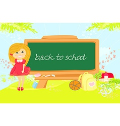 back to school girl vector image