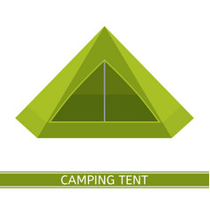 camping tent icon vector image