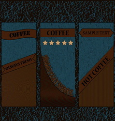 coffee label-01 vector image