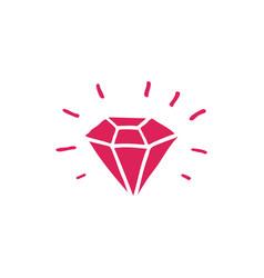 diamond doodle icon vector image vector image