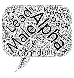 Do women like alpha males text background vector
