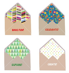 Envelops and letters concept for fun joy create vector image vector image