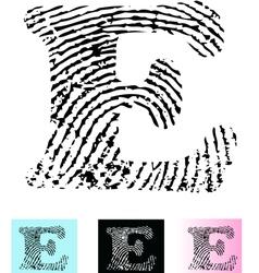 Fingerprint Alphabet Letter E vector image vector image