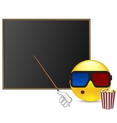 Funny student around blackboard vector