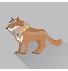 Game Wolf Avatar Icon Isolated on White vector image