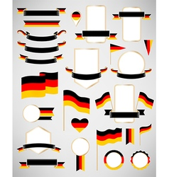 Germany flag decoration elements vector