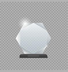 glass trophy award vector image