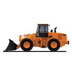 Heavy equipment loader vector
