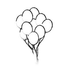 Helium balloons icon image vector