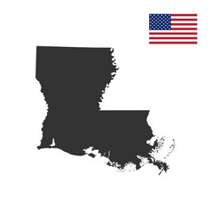map of the us state of louisiana vector image vector image