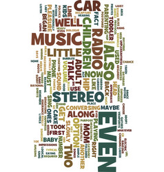 Mom s car stereo text background word cloud vector