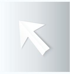Paper Arrow Cursor in Perspective vector image vector image