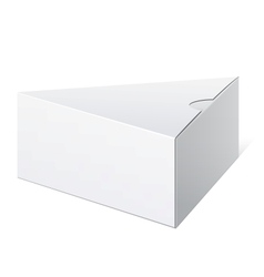 Realistic White Package triangular shape Box For vector image vector image