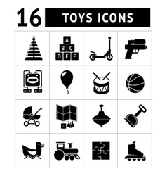 Set icons of toys vector image