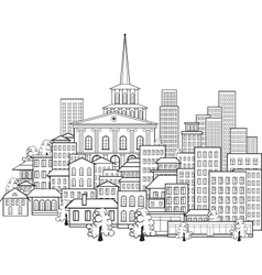 Small town of a few streets vector