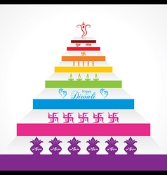 Stylish design and text for diwali celebration vector