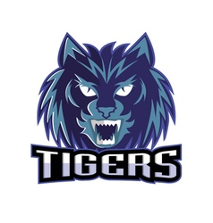 Tigers logo sport team vector