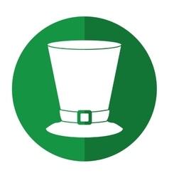 Top hat saint patrick day symbol shadow vector