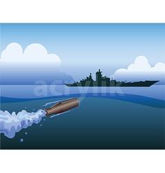 Torpedo attack on ship vector
