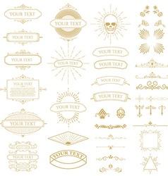vintage frames set vector image vector image