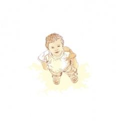 little boy vector image