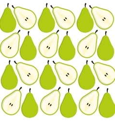 Pear fruits background design vector
