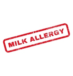 Milk allergy text rubber stamp vector