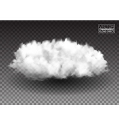 Fluffy white clouds realistic design elements vector